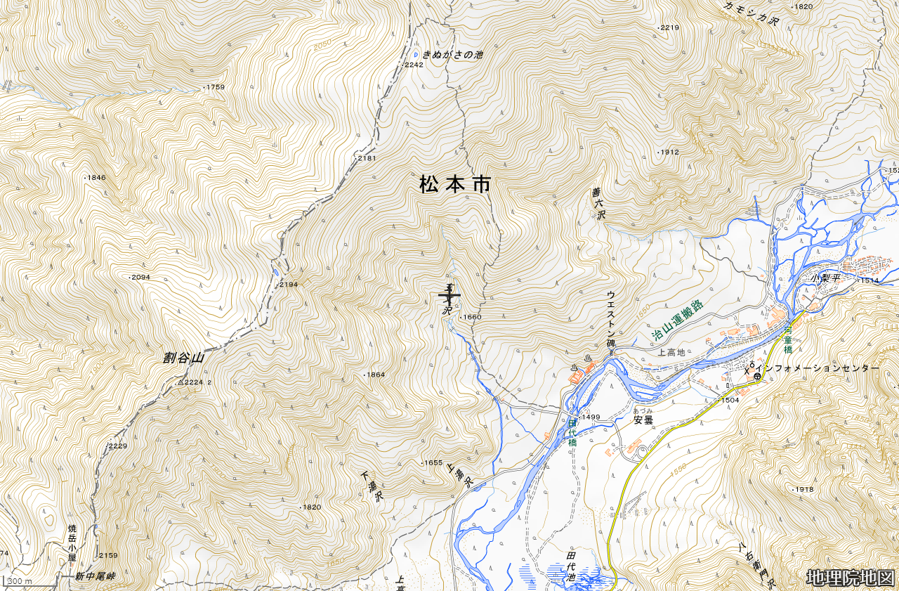 地理院地図「玄文沢」周辺